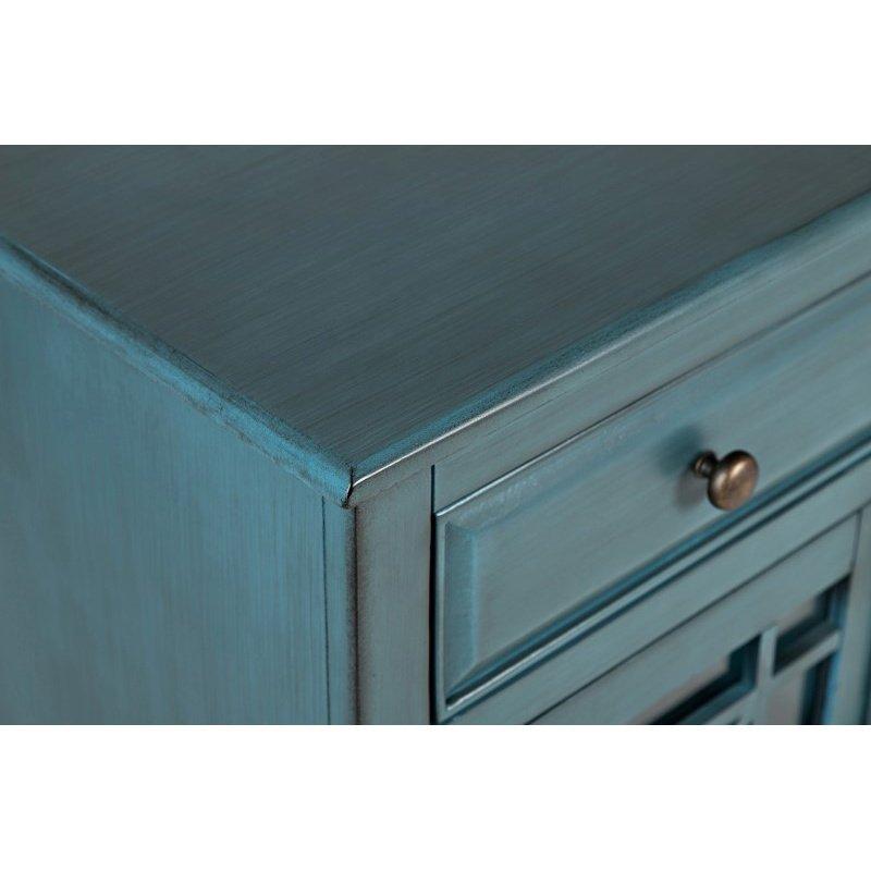 Jofran Craftsman Antique Blue Accent Chest