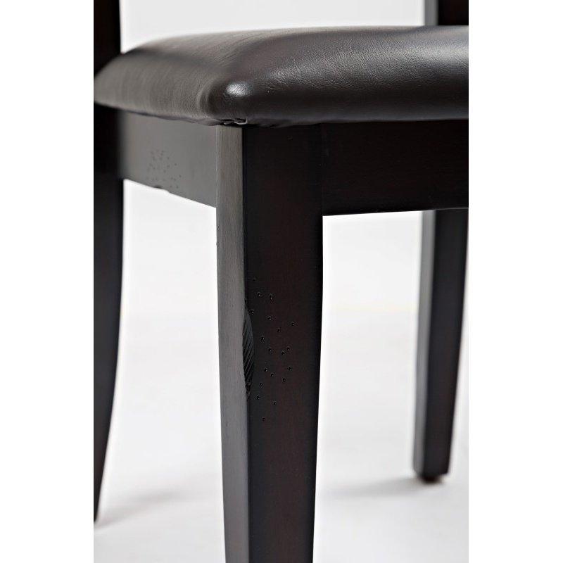 Jofran Dark Rustic Prairie Ladderback Chair with Upholstered Seat (Set of 2)