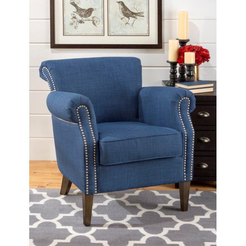 Jofran Emma Club Chair in Admiral Blue