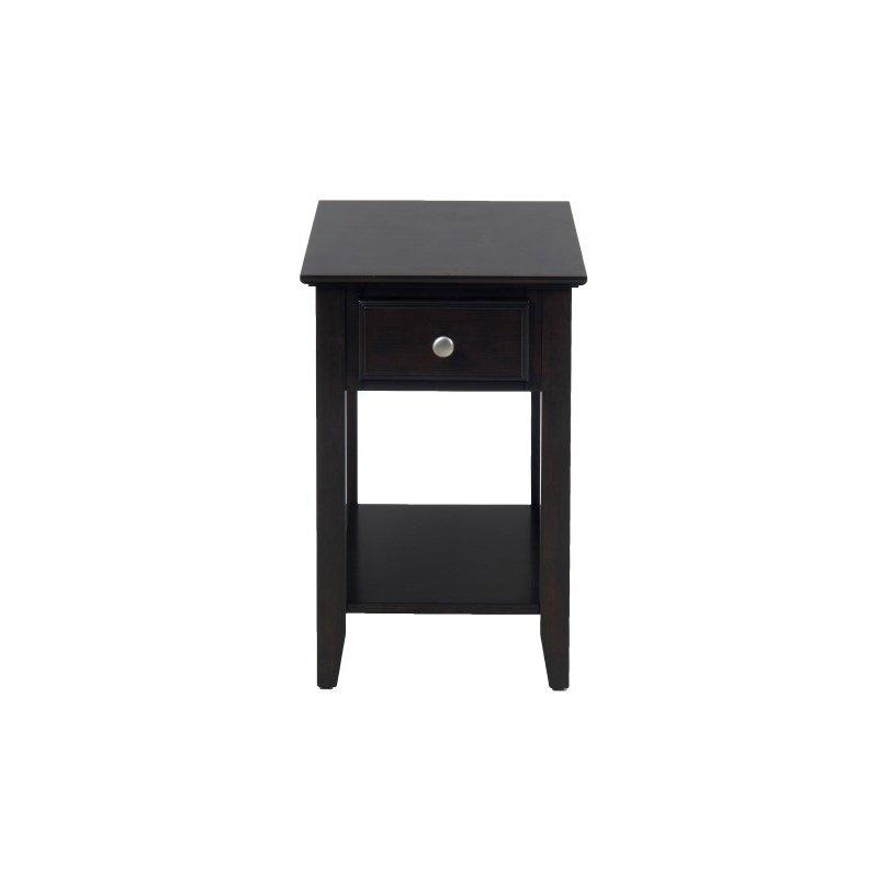 Jofran Espresso Chairside Table
