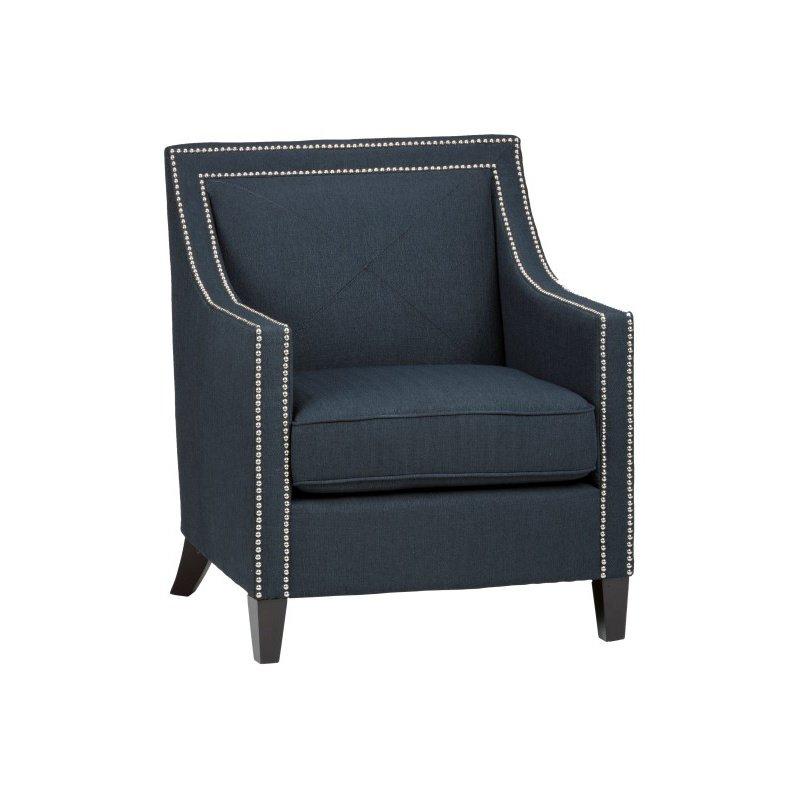 Jofran Luca Club Chair in Indigo