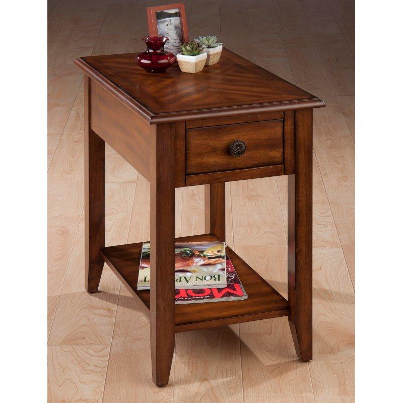 Jofran Medium Brown Chairside Table