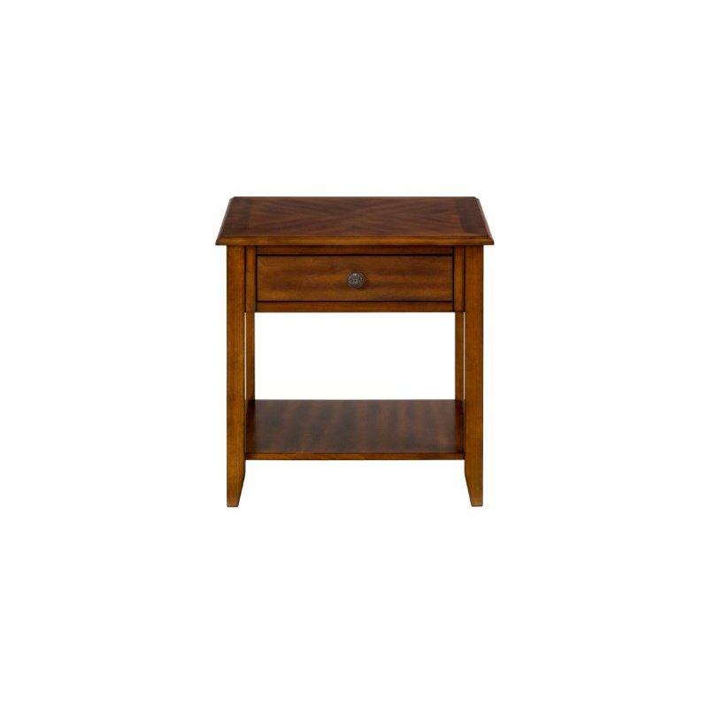 Jofran Medium Brown End Table