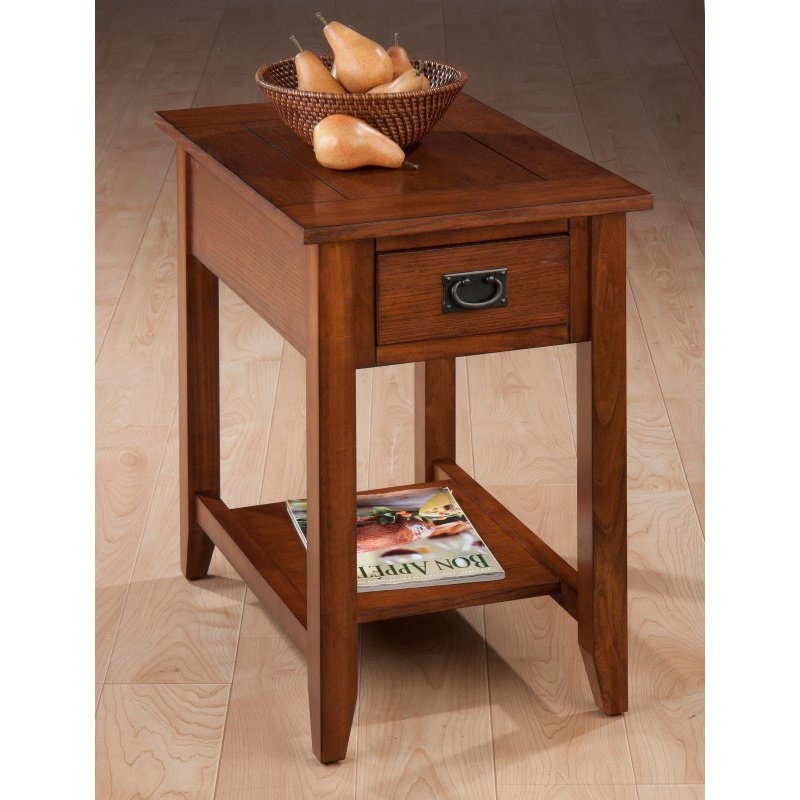 Jofran Mission Oak Chairside Table