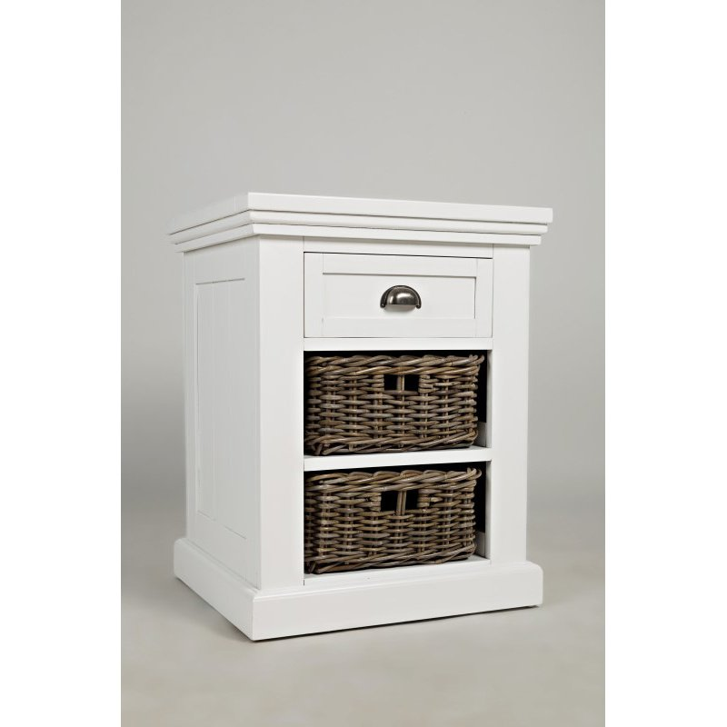 Jofran Natural Origins Chairside Table in Chatham White