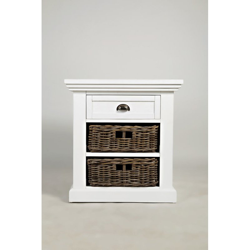 Jofran Natural Origins End Table in Chatham White