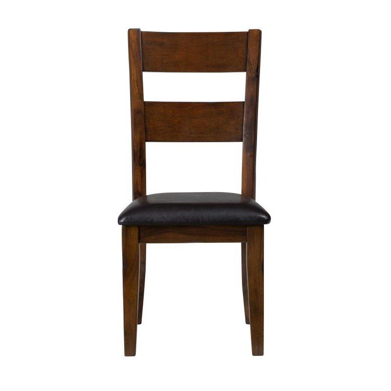 Jofran Plantation Ladderback Upholstered Side Chair (Set of 2)