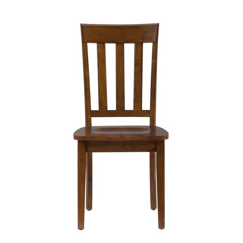 Jofran Simplicity Caramel Slat Back Chair (Set of 2)