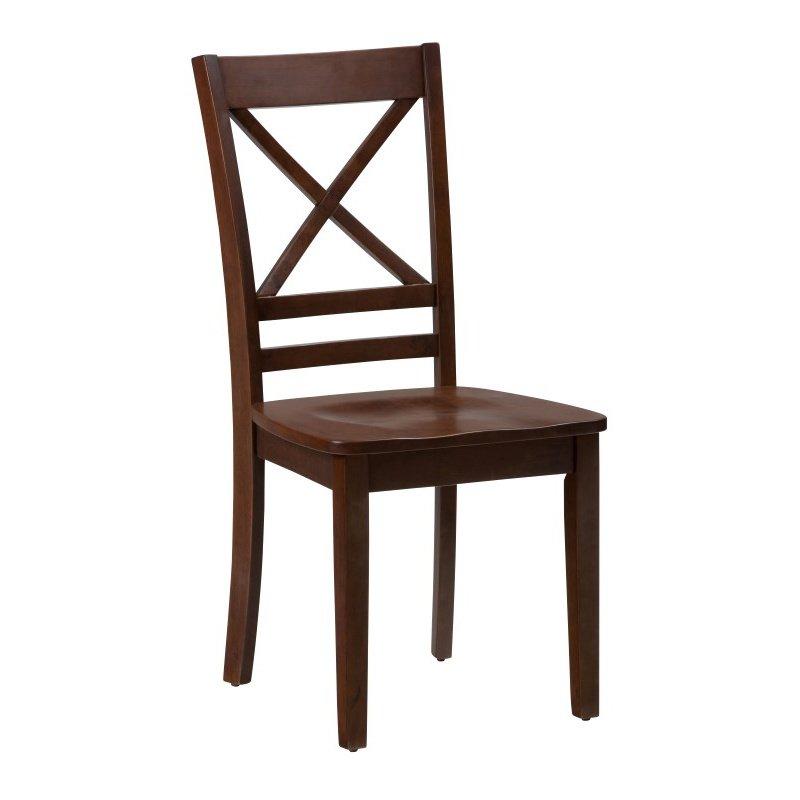 Jofran Simplicity Caramel X Back Chair (Set of 2)