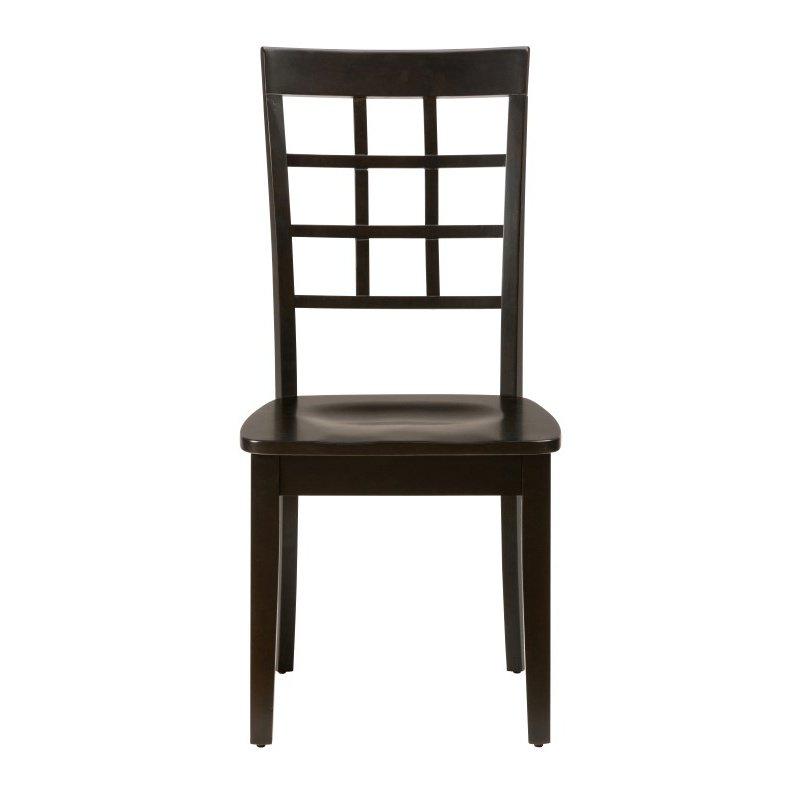 Jofran Simplicity Espresso Grid Back Chair (Set of 2)