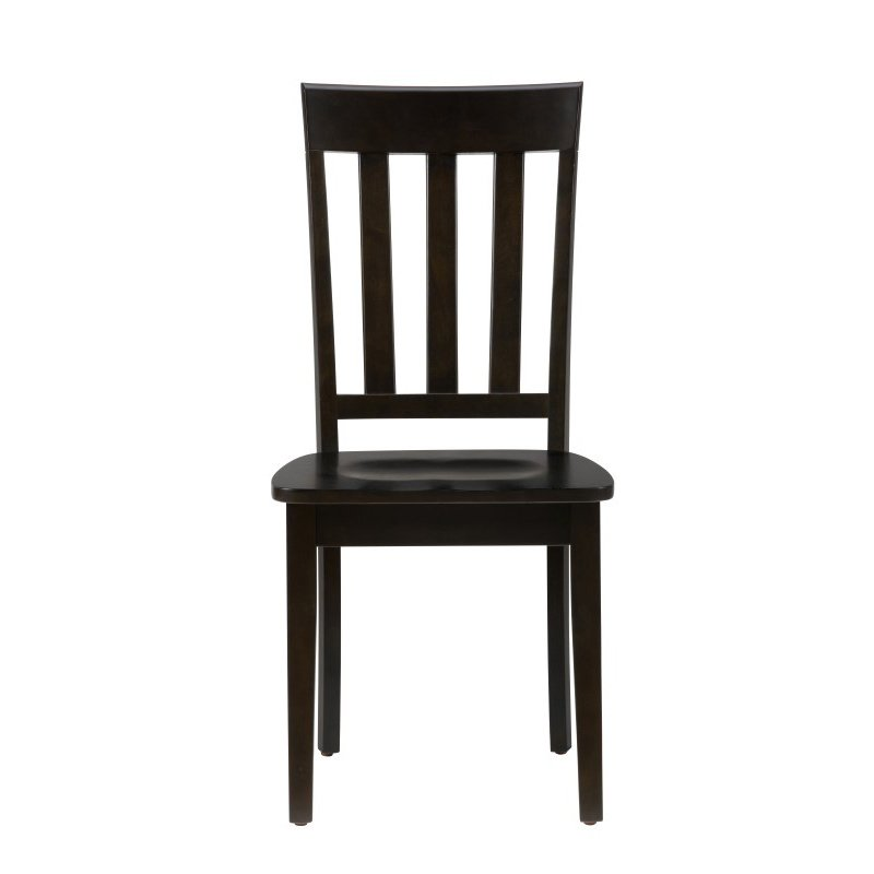 Jofran Simplicity Espresso Slat Back Chair (Set of 2)