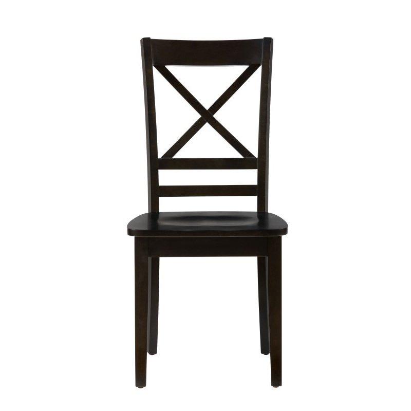 Jofran Simplicity Espresso X Back Chair (Set of 2)