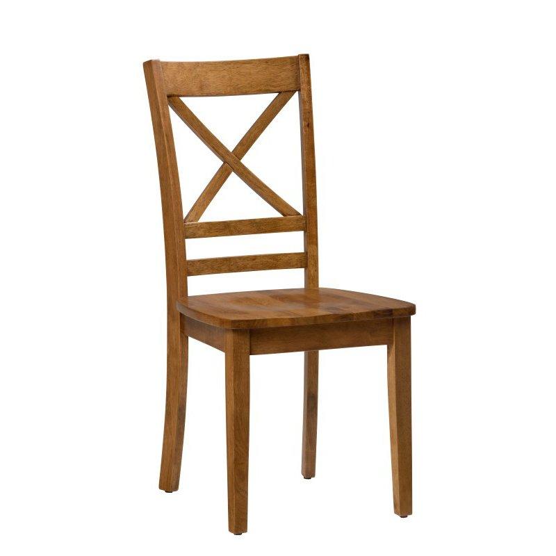 Jofran Simplicity Honey X Back Chair (Set of 2)