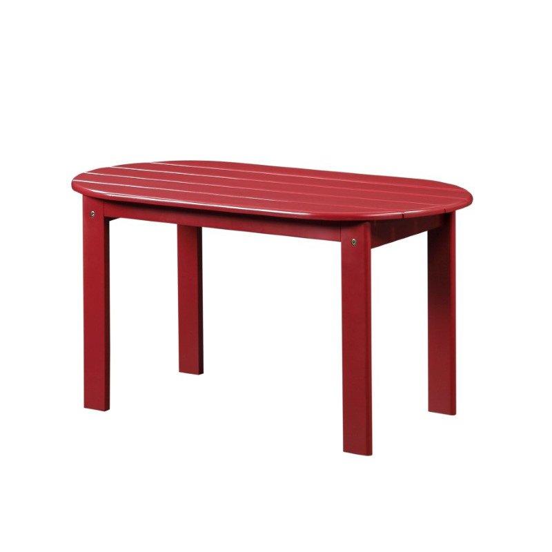 Linon Adirondack Red Coffee Table