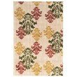 Linon Art Silk Collection AK20 Rug 8' x 10' Ivory and Green Rectangle