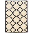 Linon Art Silk Collection AK22 Rug 2' x 3' Ivory and Navy Rectangle