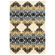 """Linon Art Silk Collection AK29 Rug 5' x 7' 6"""" Ivory and Navy Rectangle"""