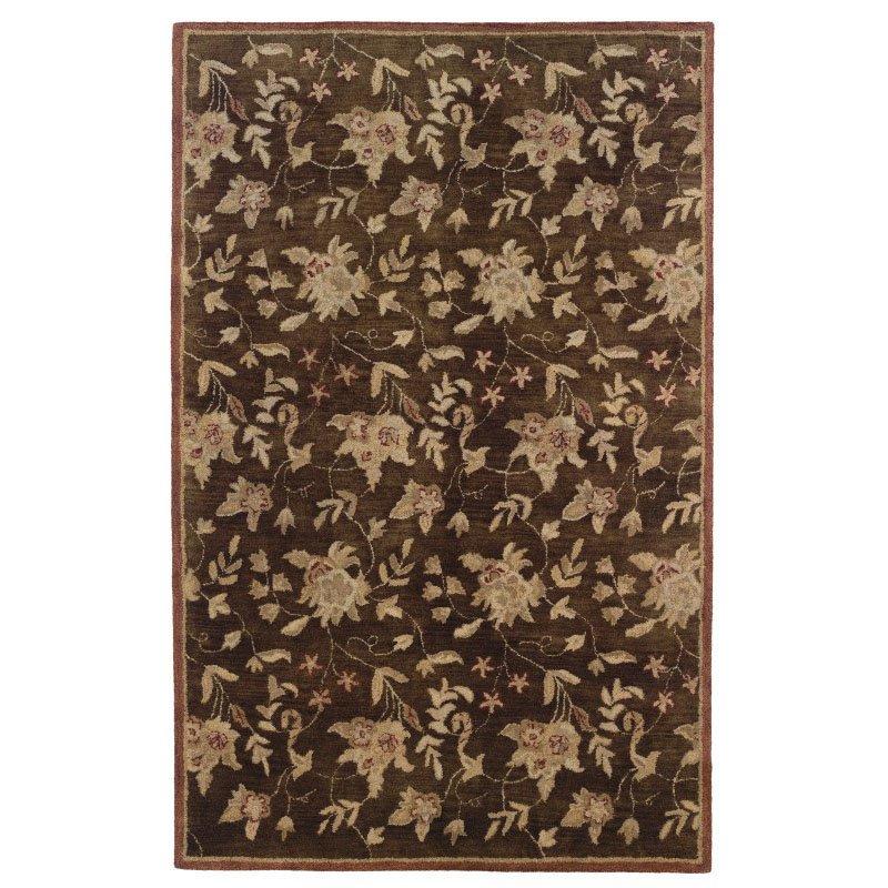 Linon Ashton SLSG40 Rug 8' x 11' Chocolate and Brick Rectangle