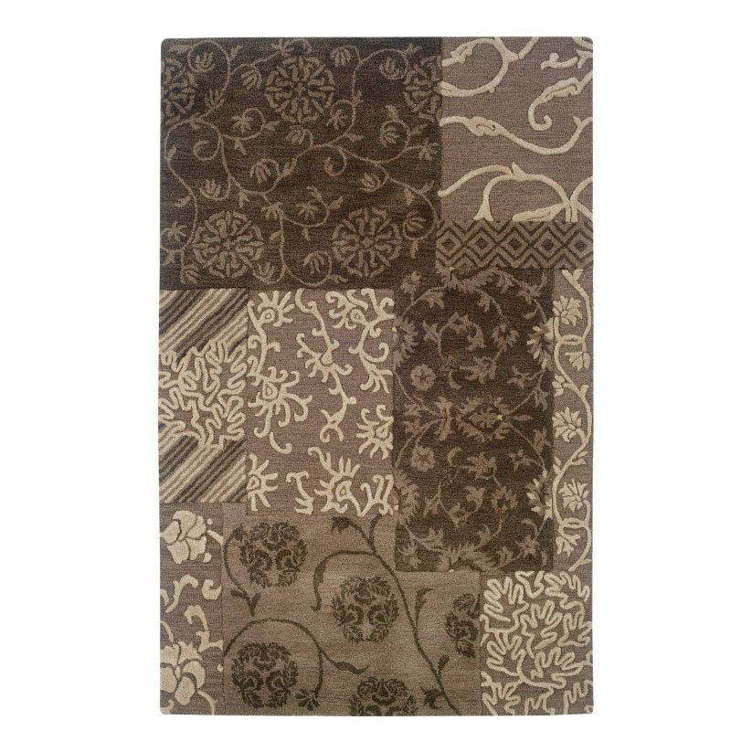 Linon Ashton SLSG57 Rug 4' x 6' Brown and Cream Rectangle