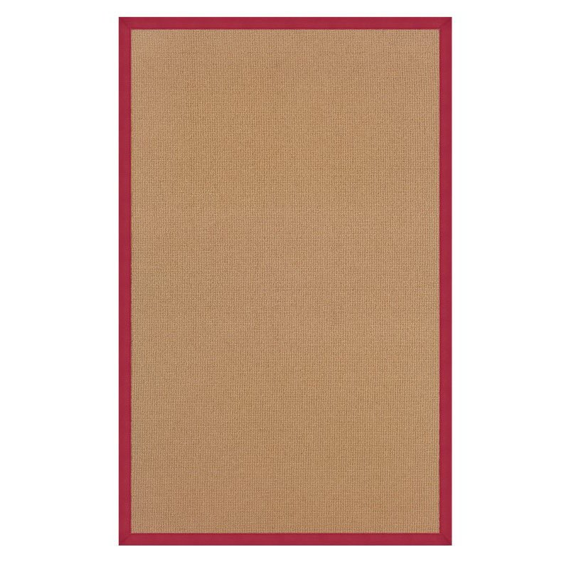Linon Athena AT0303 Rug 8' x 11' Cork and Red Rectangle