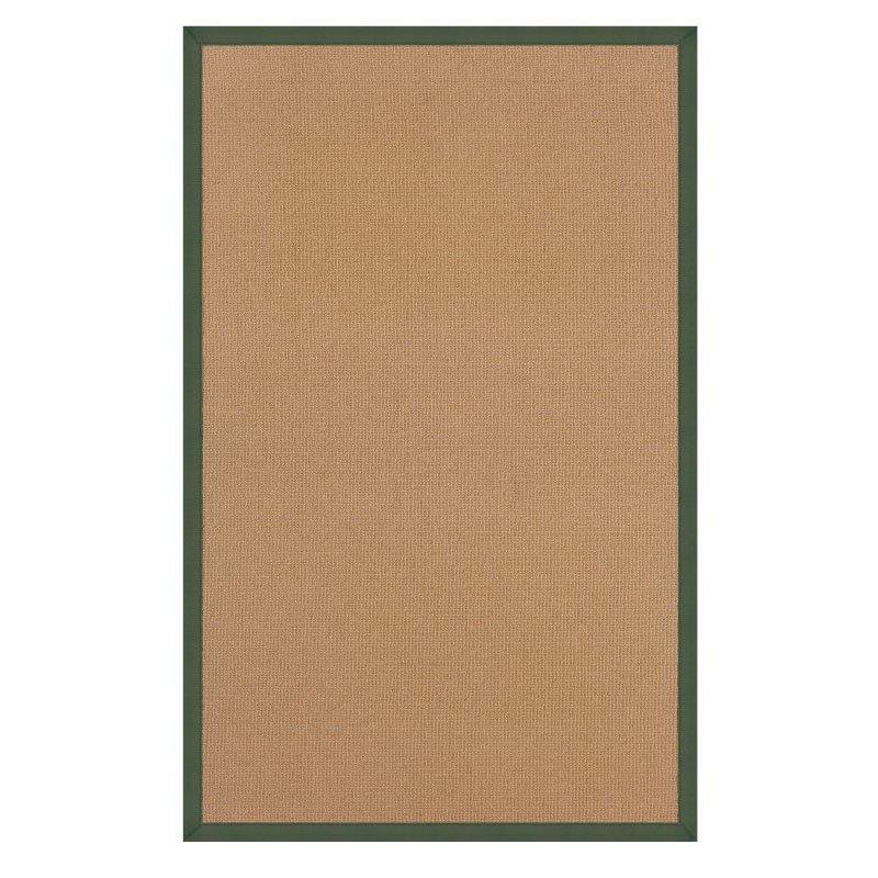 Linon Athena AT0305 Rug 5' x 8' Cork and Green Rectangle