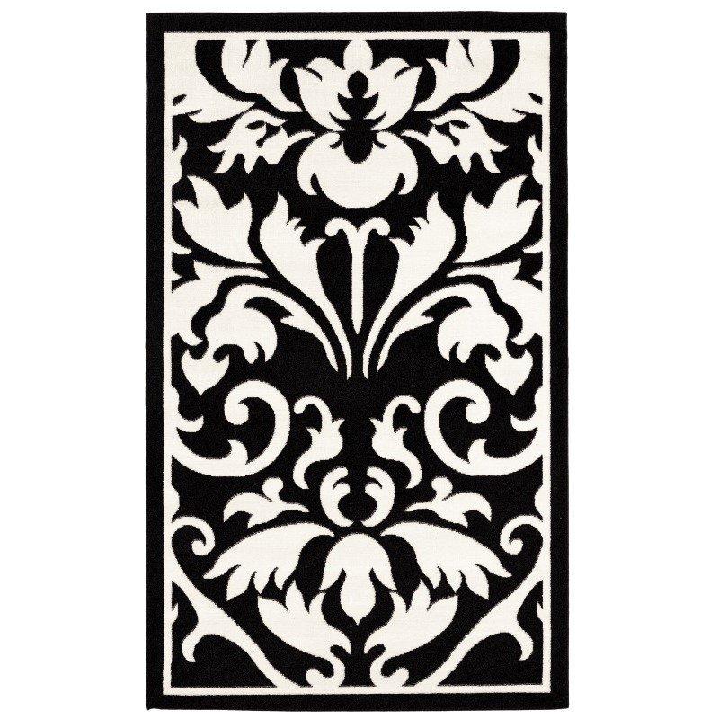 "Linon Capri BC62 Rug 4' 3"" x 7' 3"" Black and White Rectangle"