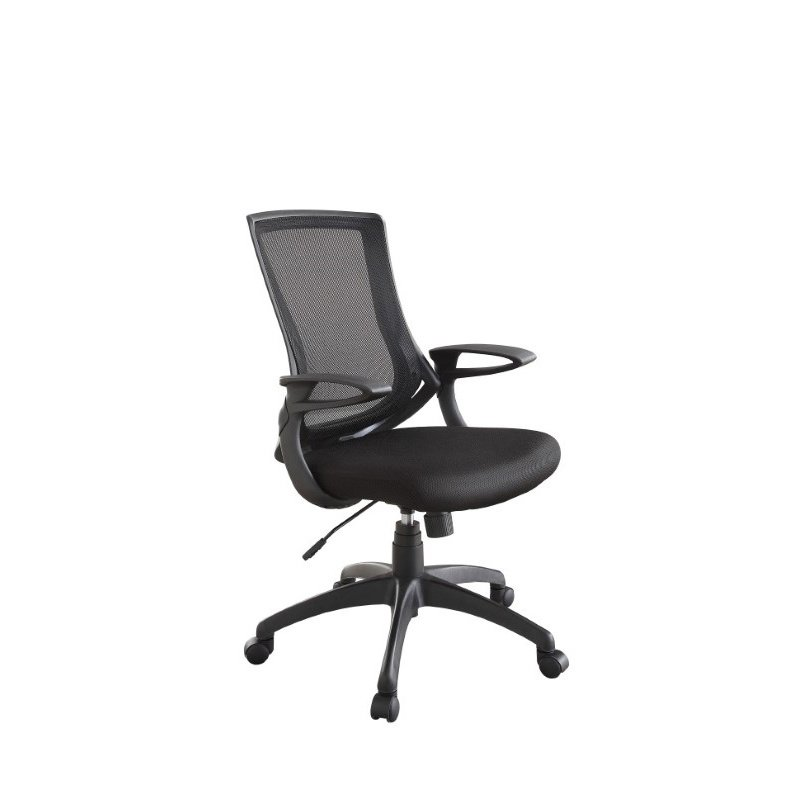 Linon Carlyle Black Office Chair