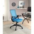 Linon Carlyle Turquoise Office Chair