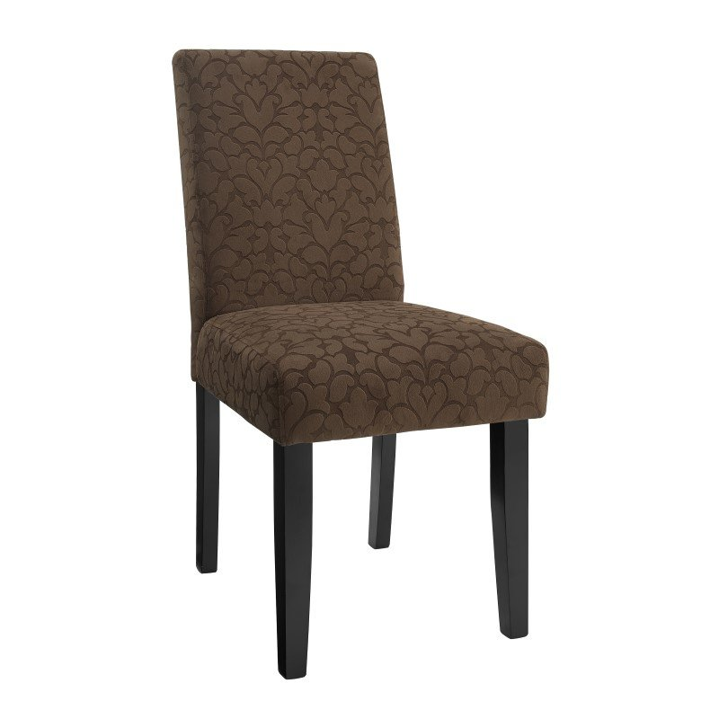 Linon Chocolate Brown Upton Parsons 2-Pieces Chairs