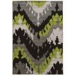 Linon Claremont Collection CT07 Rug 2' x 3' Black and Grey Rectangle