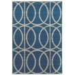 Linon Claremont Collection CT09 Rug 2' x 3' Blue and Grey Rectangle
