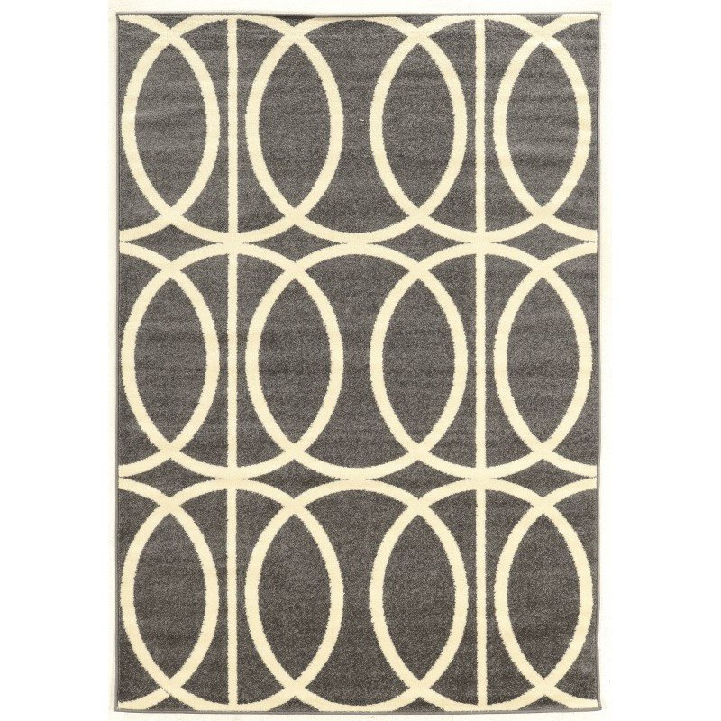 """Linon Claremont Collection CT11 Rug 8' x 10' 2"""" Grey and Ivory Rectangle"""