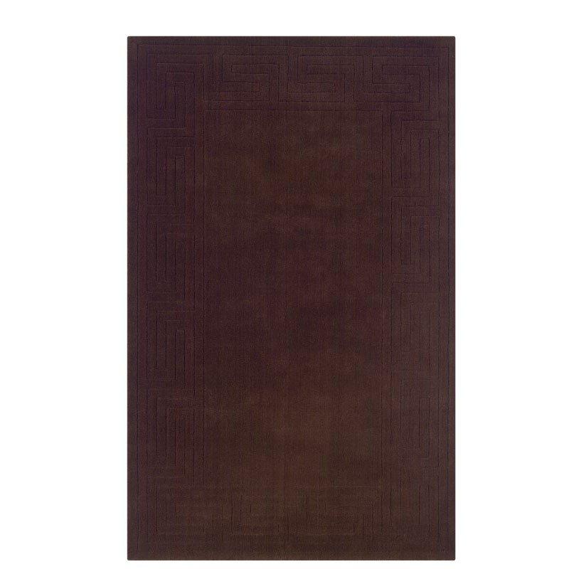 "Linon Classic NC622 Rug 3' 6"" x 5' 6"" French Roast Rectangle"