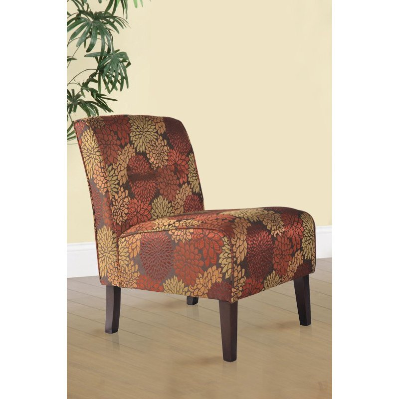 Linon Coco Accent Chair in Harvest