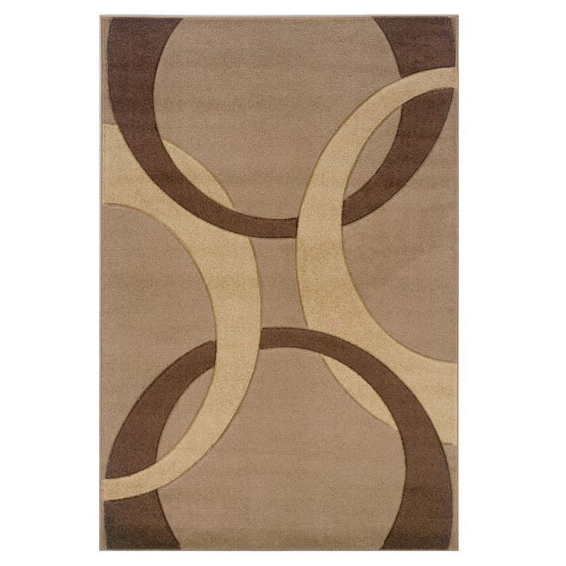 """Linon Corfu CU01 Rug 8' x 10' 3"""" Tan and Brown Rectangle"""