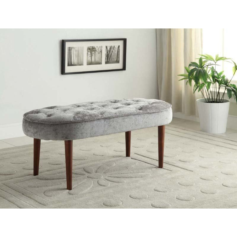 Linon Elegance Bench in Silver