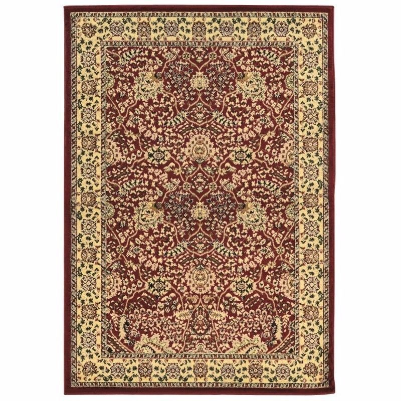 Linon Elegance Collection EE01 Rug 8' x 10' Red and Ivory Rectangle