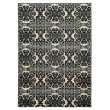 """Linon Elegance Collection EE19 Rug 5' x 7' 3"""" Grey and Ivory Rectangle"""