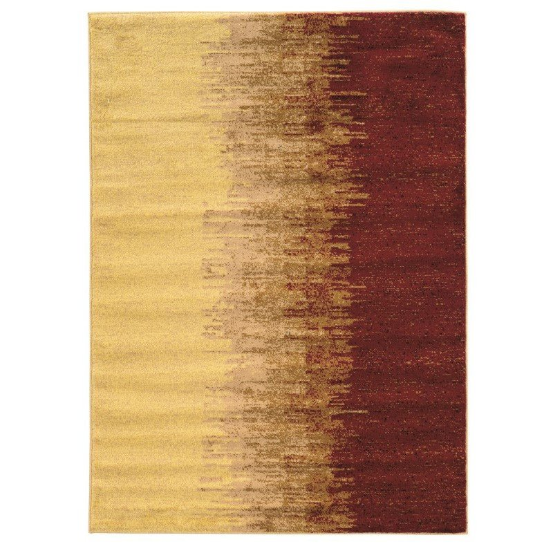 Linon Elegance Collection EE21 Rug 2' x 3' Cream and Red Rectangle
