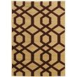Linon Elegance Collection EE319 Rug 2' x 3' Beige and Burgundy Rectangle