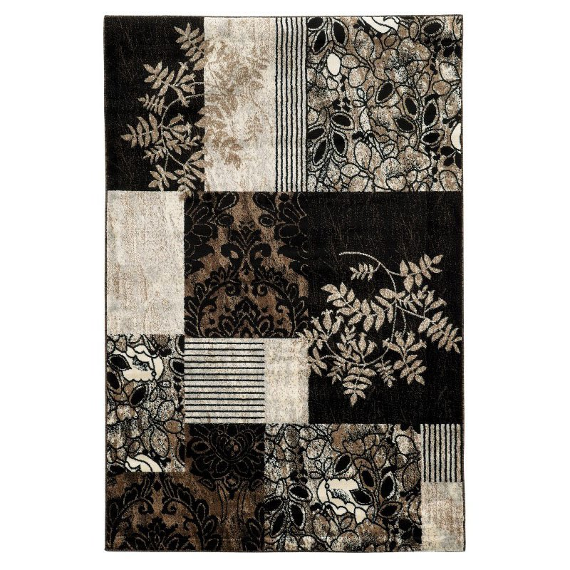Linon Elegance Collection EE34 Rug 8' x 10' Black and Brown Rectangle
