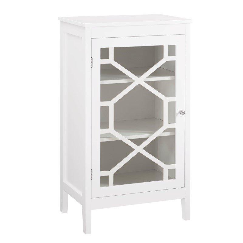 Linon Fetti White Small Cabinet