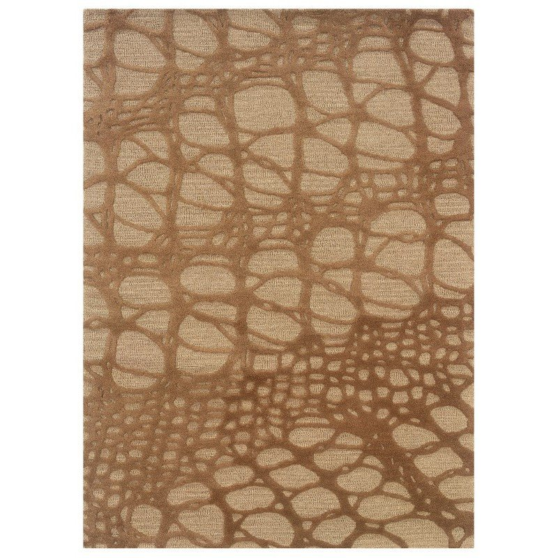 """Linon Florence Collection FL05 Rug 1' 10"""" x 2' 10"""" Ivory and Pale Gold Rectangle"""