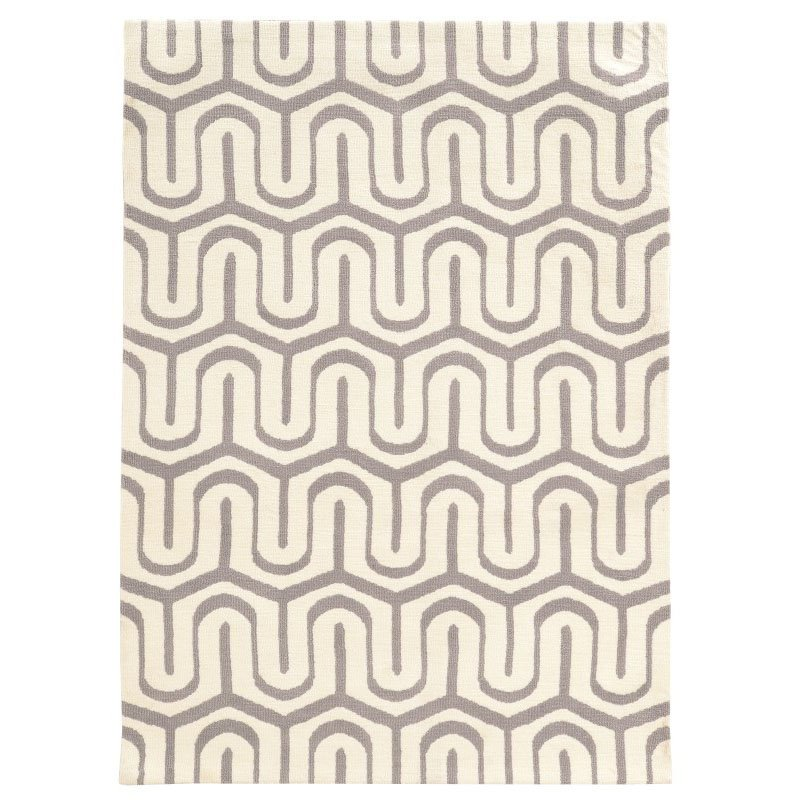 Linon Geo Collection GE10 Rug 2' x 3' Grey and Ivory Rectangle
