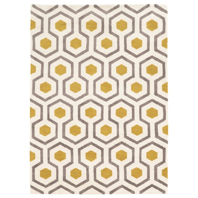 Linon Geo Collection GE11 Rug 2' x 3' Ivory and Grey Rectangle