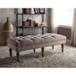 """Linon Isabelle Washed Taupe Linen 50"""" Bench"""