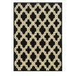 Linon Le Soleil LS07 Rug 8' x 10' Black and Ivory Rectangle