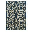 Linon Le Soleil LS11 Rug 5' x 7' Navy and Ivory Rectangle