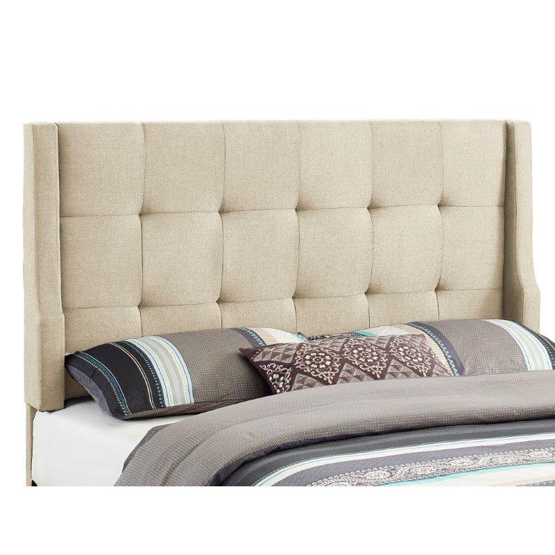 Linon Luxe Full/Queen Size Headboard in Natural Linen