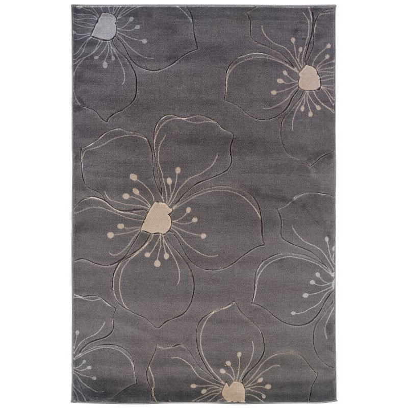 """Linon Milan MN09 Rug 8' x 10' 3"""" Grey and Ivory Rectangle"""